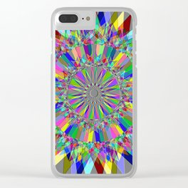 Colorful Spiro Clear iPhone Case