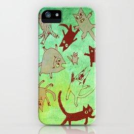 levitating kitties iPhone Case