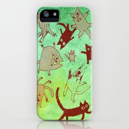 levitating kitties iPhone Case