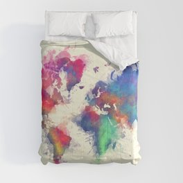 world map 105 #worldmap #map Comforters