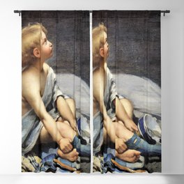 12,000px,500dpi-Fernand Pelez - A child in the attic - Digital Remastered Edition Blackout Curtain
