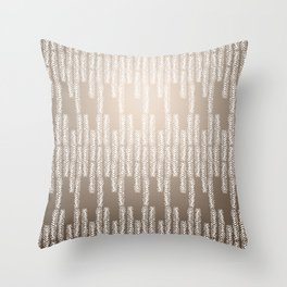 Eye of the Magpie tribal style pattern - champagne Throw Pillow