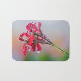 Red pelargonium flower Bath Mat