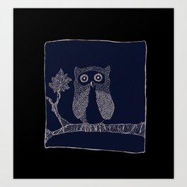Hibou Art Print