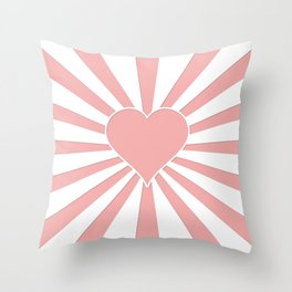 Blush Pink Valentine Sweetheart Love Explosion Throw Pillow