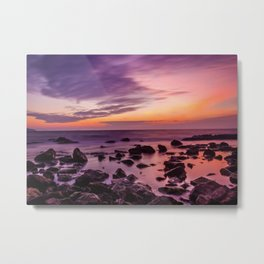 Waterscape with Sunset Metal Print