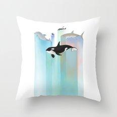 Ever Blue Throw Pillow