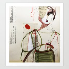 Sepia Girl Art Print