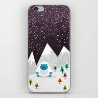 yeti iPhone & iPod Skins featuring Yeti by Kakel