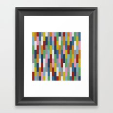 Bricks Rotate Framed Art Print