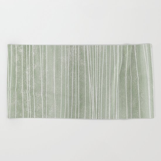 pin stripe soothe Beach Towel