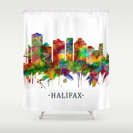 Halifax Canada Skyline Shower Curtain
