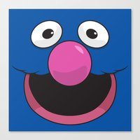sesame street Canvas Prints featuring Sesame Street Grover by Jconner