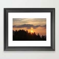 Smoky Mountains Sunset Framed Art Print