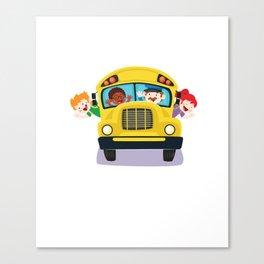 Bus Boss School Bus Driver Monitor T-Shirt Canvas Print
