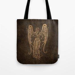 Vintage Rustic Virgo Zodiac Sign Tote Bag