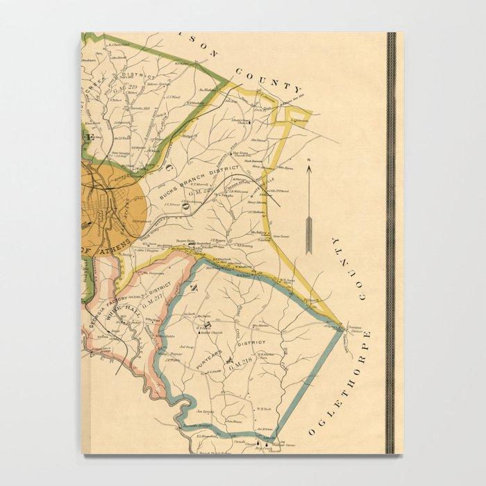 Map Of Georgia Athens.Map Of Athens Georgia 1893 Notebook