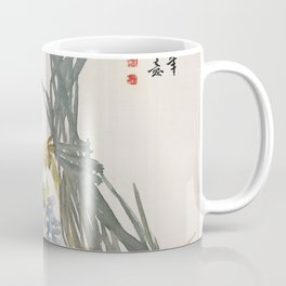 Vintage Chinese Ink and Brush Painting and Calligraphy Coffee Mug
