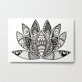 Tangled Lotus Metal Print