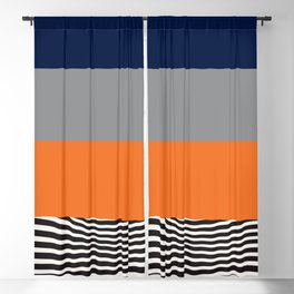mid-century abstract print - art, interior, drawing, decor, design, bauhaus, abstract, decoration, h Blackout Curtain
