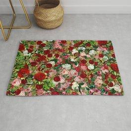 Vintage Rose Pattern Rug