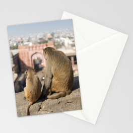 Monkeys near Galta Gate, Jaipur, India Stationery Cards