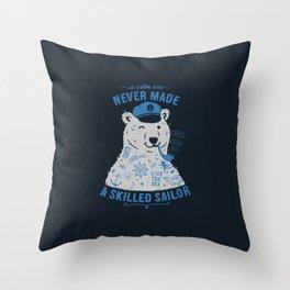 Sailor Tattooed Bear Throw Pillow