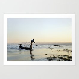 Inle Lake in Burma Art Print