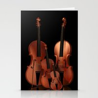 mortal instruments Stationery Cards featuring String Instruments by Simone Gatterwe