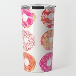 Half Dozen Donuts – Pink & Peach Ombré Travel Mug