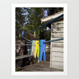 Hang your own laundry Art Print