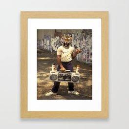B-Boy tiger Framed Art Print