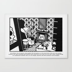 Sylvia Silence, the girl detective Canvas Print