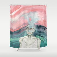 creativity Shower Curtains featuring Creativity by Nina Schulze Illustration