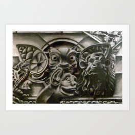 Gather the Gargoyles Art Print