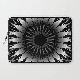 Silver glowing mandala Laptop Sleeve