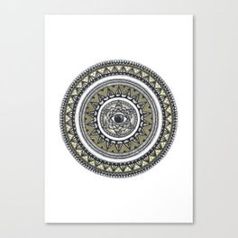 Golden Eye Mandala Canvas Print