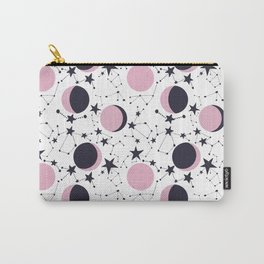 Modern Moon and Star Pattern Carry-All Pouch