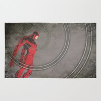 daredevil Area & Throw Rugs featuring Daredevil: Man Without Fear by Schnydz
