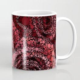 Red Roses Circle Mosaic Design Coffee Mug