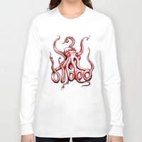 gangster Long Sleeve T-shirts featuring Gangster Octopus by Milo Firewater