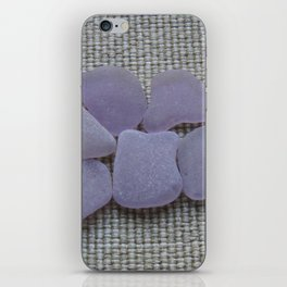 Dark Purple Sea Glass iPhone Skin
