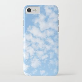 Summer Sky with fluffy clouds iPhone Case