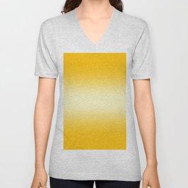 Amber Orange to Cream Yellow Bilinear Gradient Unisex V-Neck