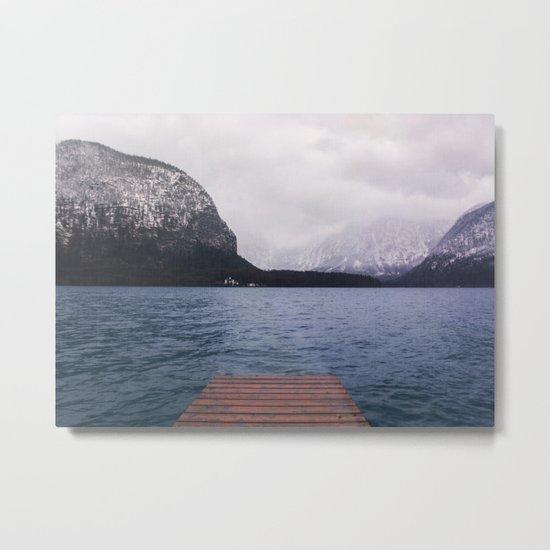 Cloudy Lake Metal Print