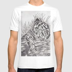 cute tiger White MEDIUM Mens Fitted Tee
