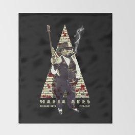 Mafia apes Throw Blanket