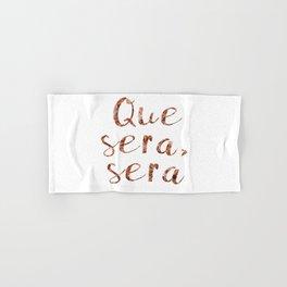 Rose gold Que Sera, Sera Hand & Bath Towel