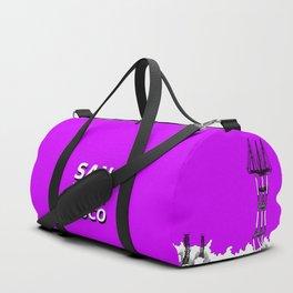 San Francisco - Sutro Tower (purple sky) Duffle Bag
