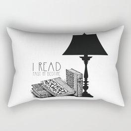 I read past my bedtime Rectangular Pillow